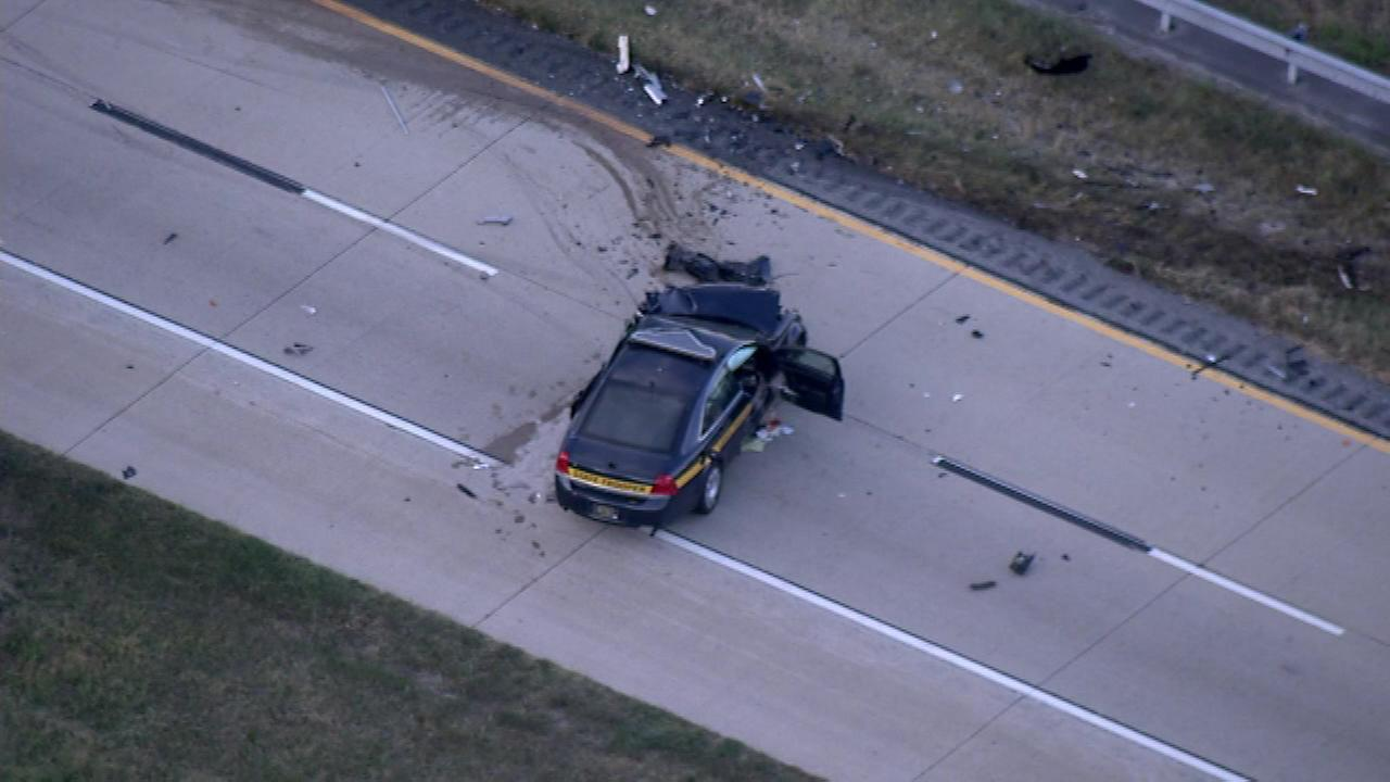 A civilian was killed and a Delaware State Police Trooper was injured in a crash on Route 1 in Dover.
