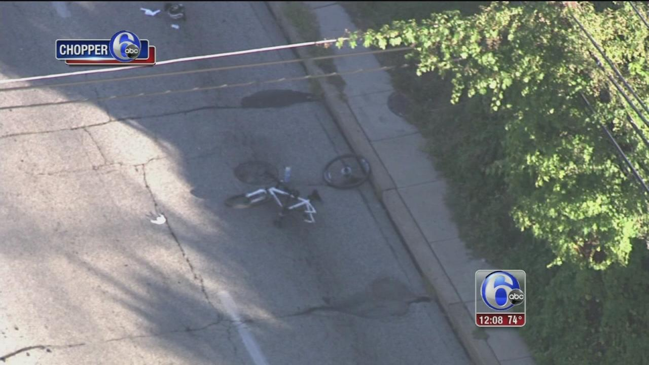VIDEO: Bicyclist struck by vehicle in Upper Moreland