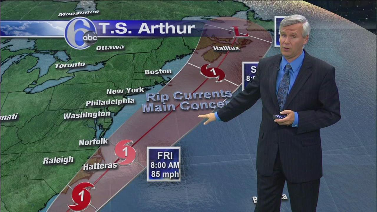 VIDEO: The latest on Tropical Storm Arthur