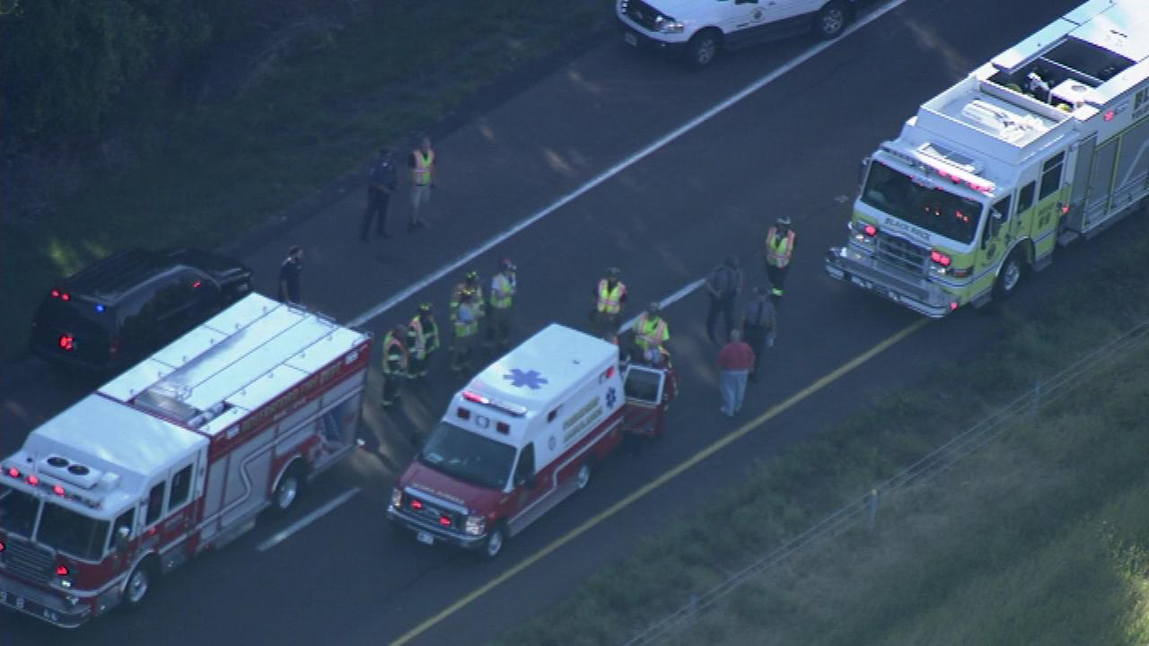 Two pedestrians were struck on Route 422 eastbound in Montgomery County.