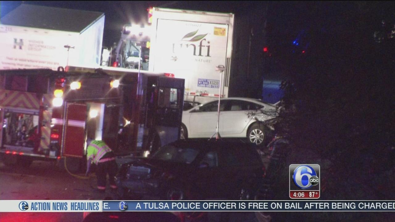 VIDEO: Blue Route closed for hours after 2 crashes minutes apart