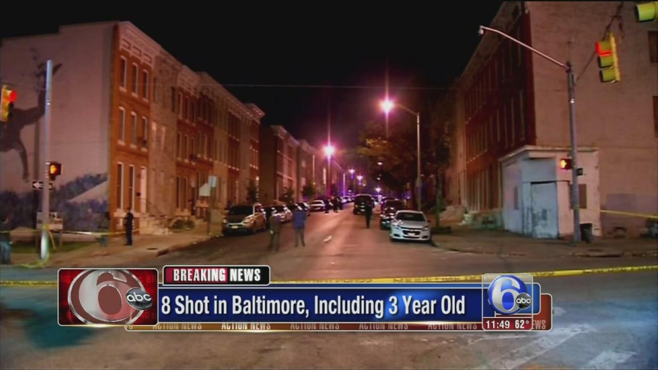 VIDEO: Baltimore shooting