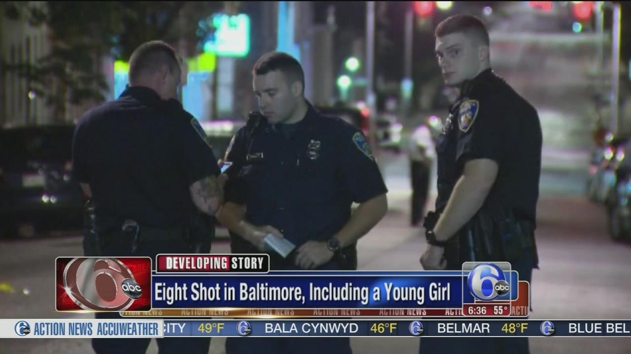 VIDEO: 8 shot in Baltimore
