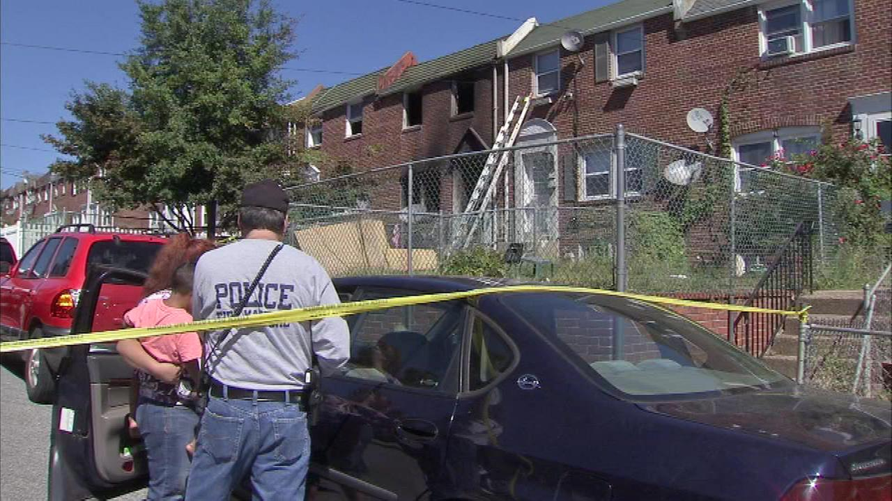 The scene of a fire that killed two Wilmington firefighters on Saturday, September 24.