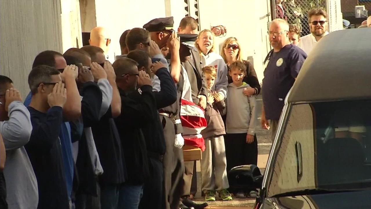 The bodies of two fallen Wilmington firefighters were given an escort on Monday, September 26.