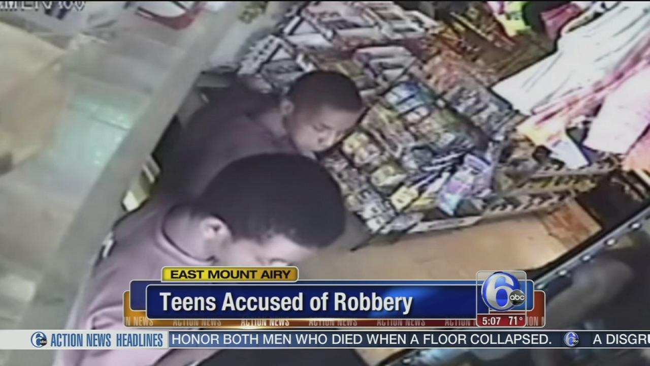 VIDEO: Teens accused of robbery
