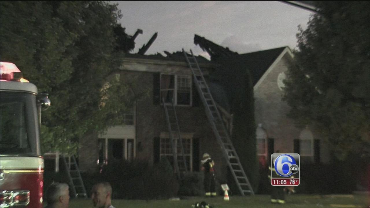 VIDEO: Firefighters suffers injuries battling Montgomery Twp. blaze