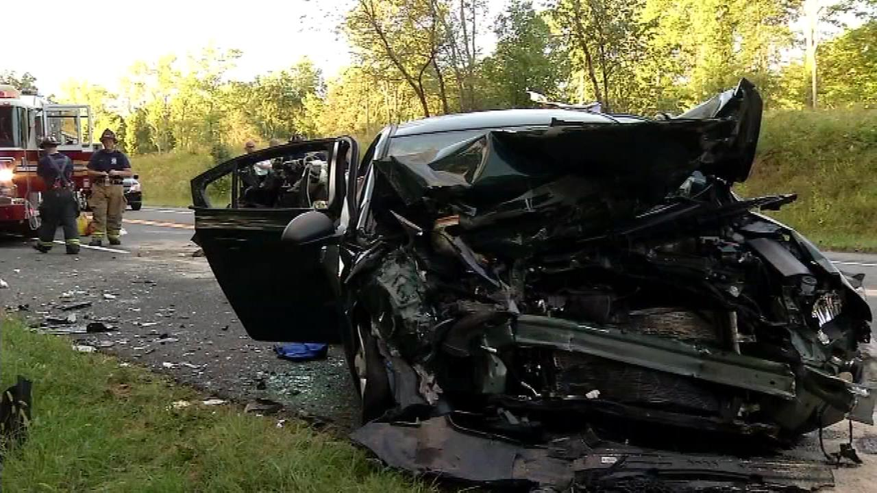 The Action Cam on the scene of a head-on collision in Newark, Delaware.