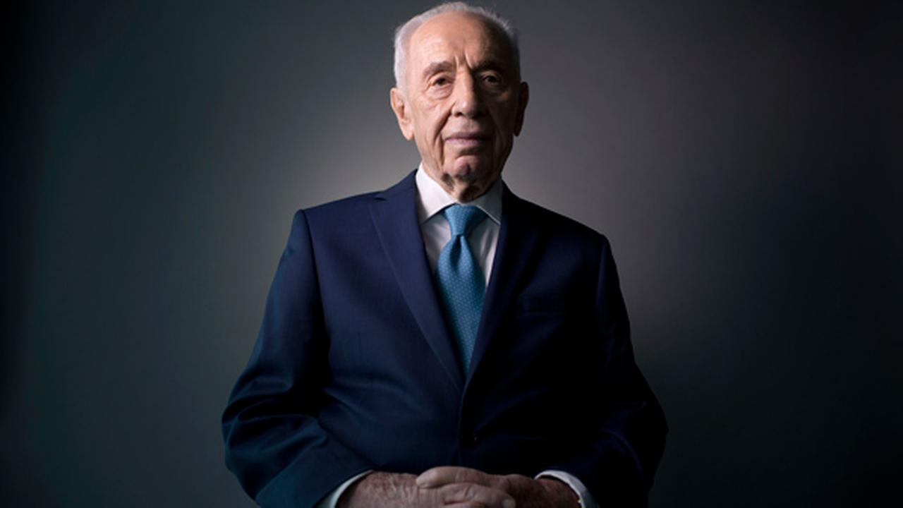 In this Monday, Feb. 8, 2016 photo, Israels former President Shimon Peres poses for a portrait at the Peres Center for Peace in Jaffa, Israel.