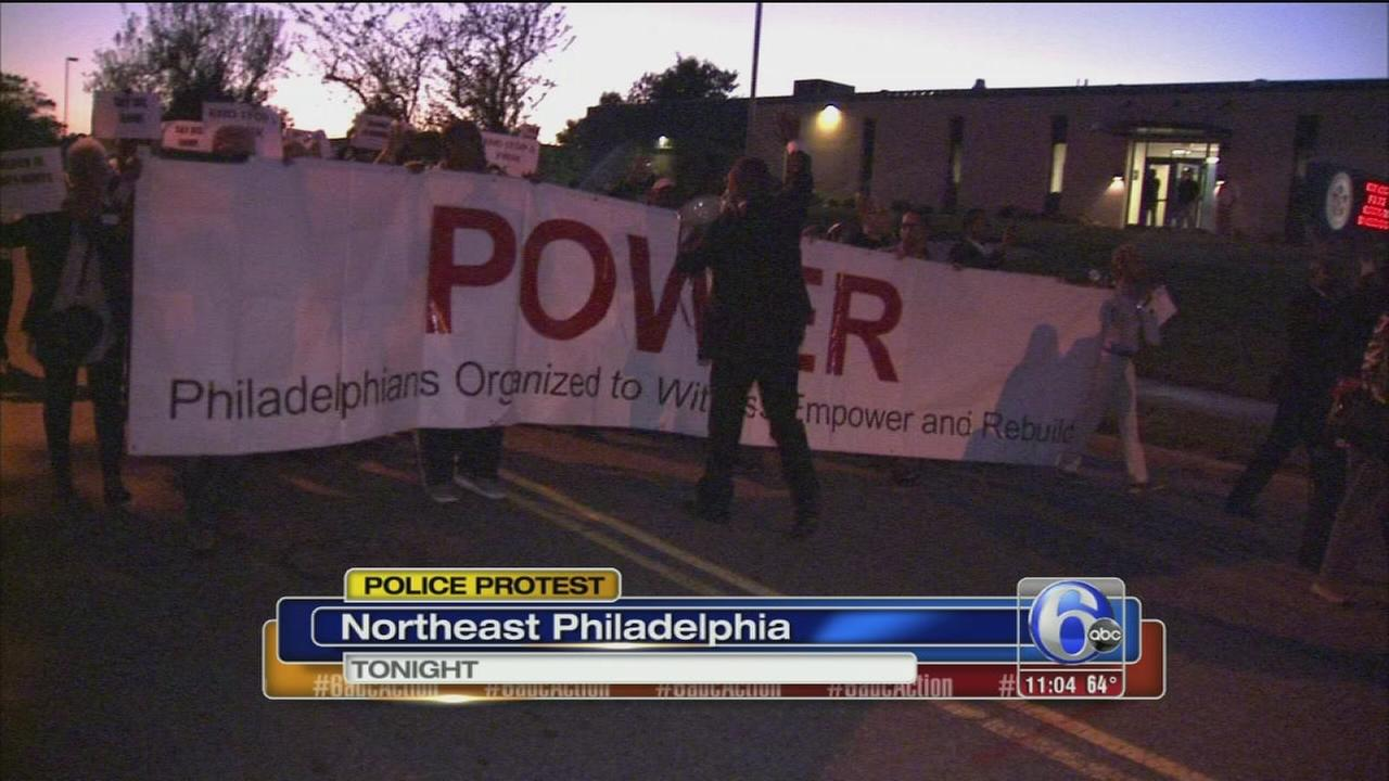 VIDEO: Peaceful protest at FOP HQ