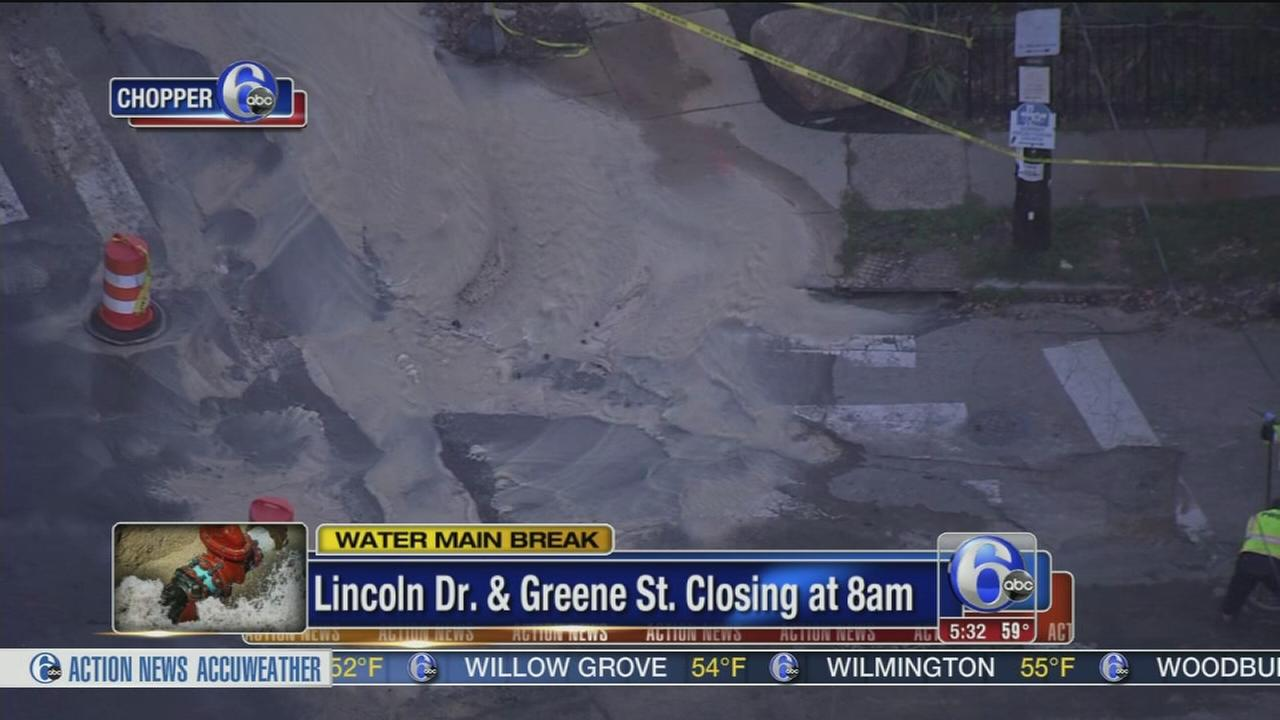 VIDEO: Lincoln Drive closed starting 8 a.m. at Greene Street