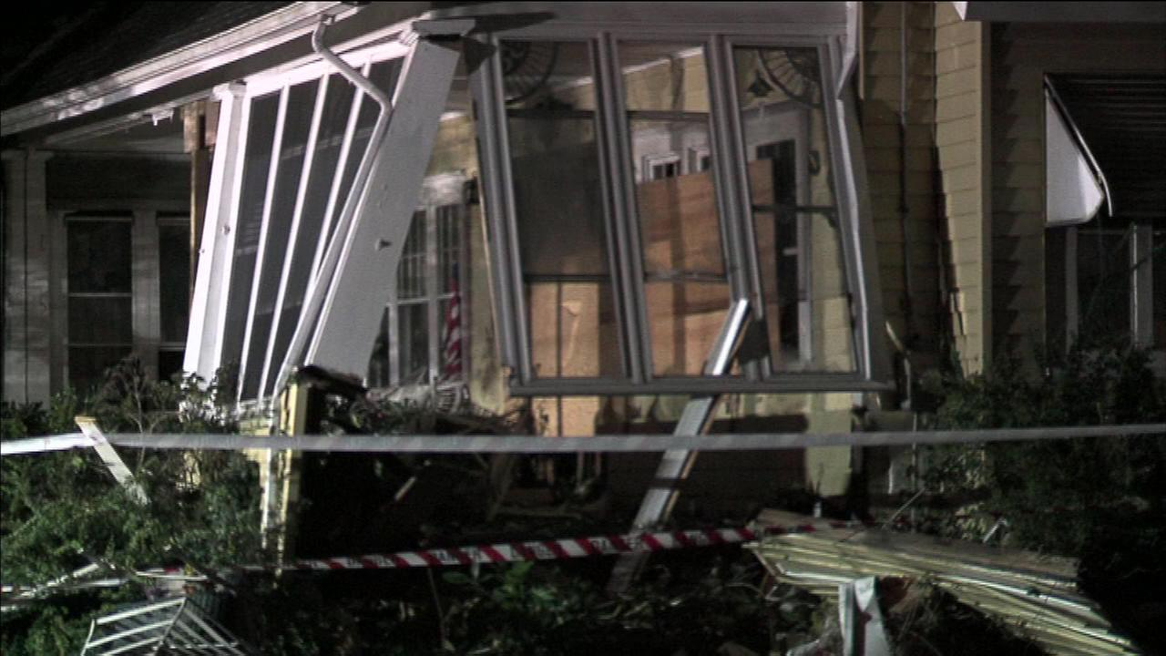September 27, 2016: Police say a homeowner was killed after a vehicle crashed into the front of his home in the 100 block of Edinburg Road in Hamilton Township, NJ.