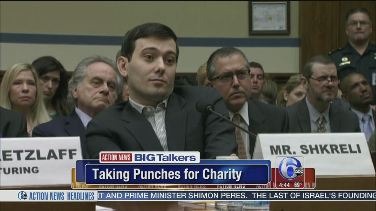 VIDEO: Martin Shkreli raffling chance to punch him in face