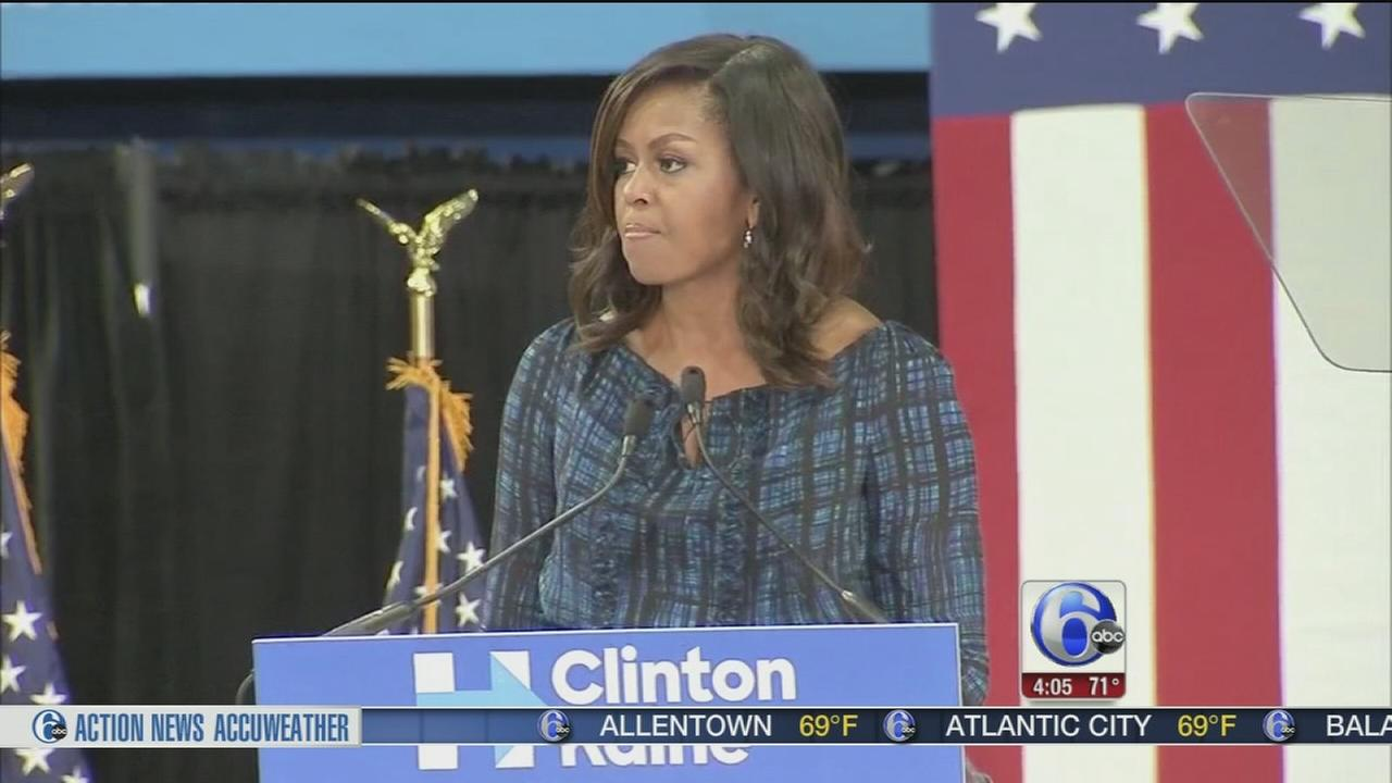 VIDEO: In Philly, Michelle Obama says White House needs an adult