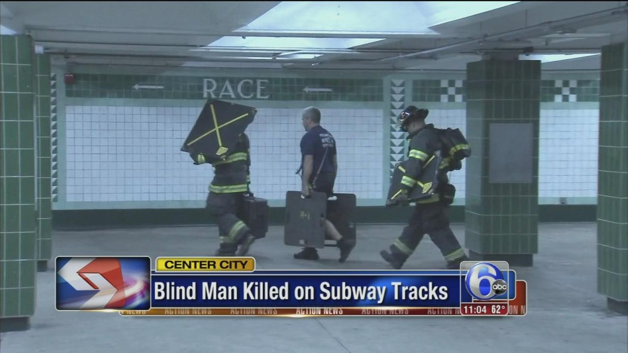VIDEO: Blind man killed by SEPTA train
