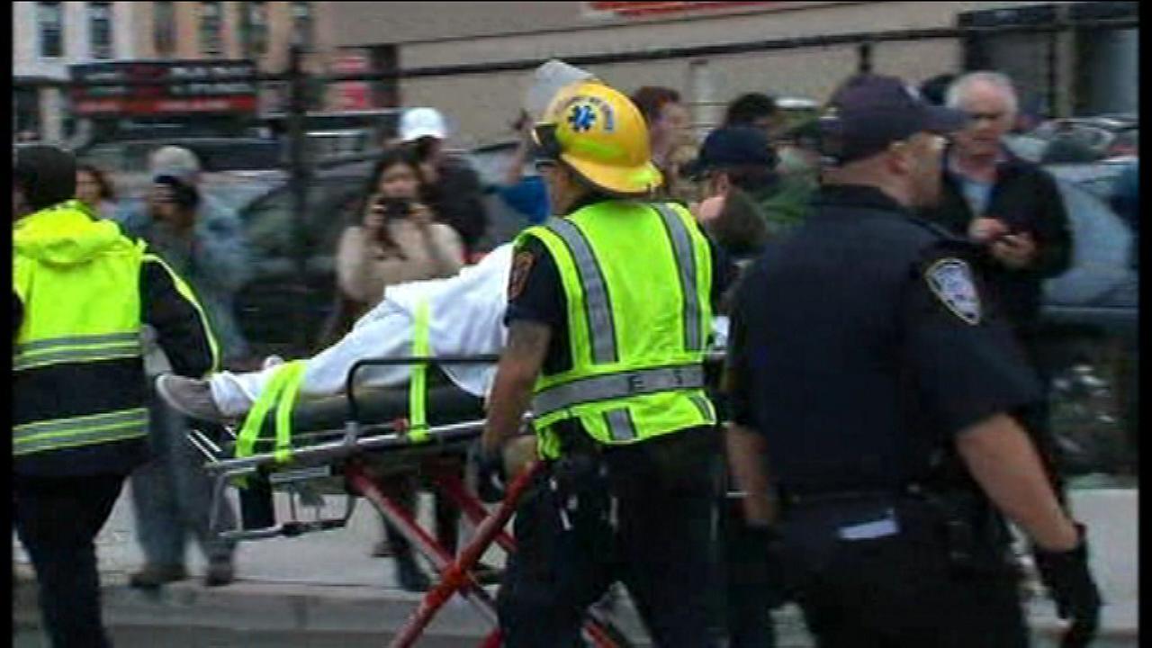The scene of a train crash at the NJ Transit station in Hoboken, N.J. on Thursday, September 29.