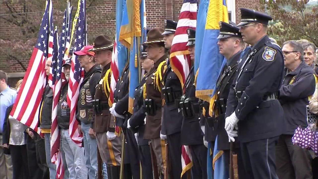The funeral for Lieutenant Christopher Leach, one of the firefighters killed battling a house fire in Wilmington, Delaware, was held on Friday, September 30.