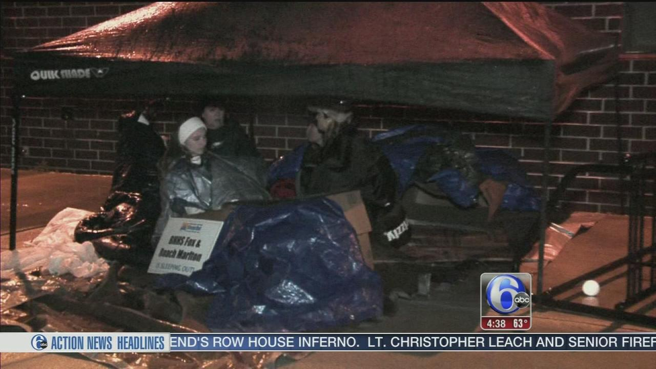 Sleeping out to support homeless