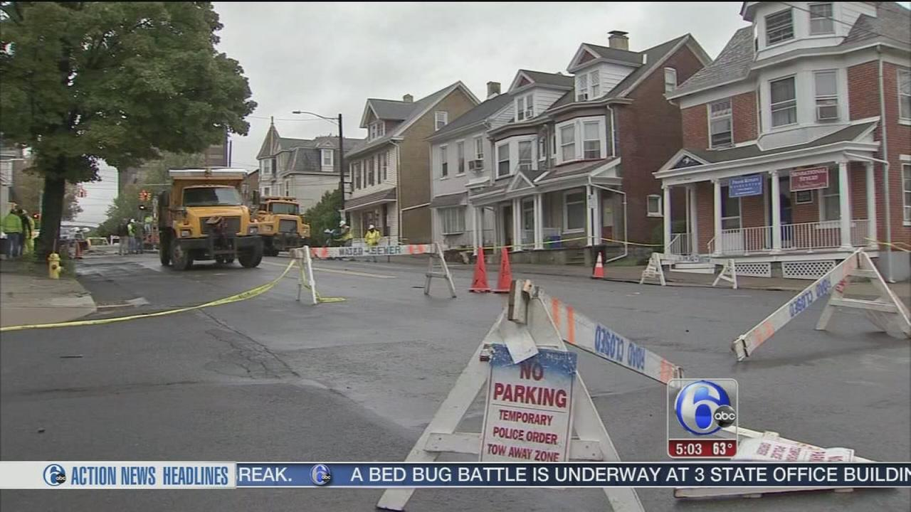 VIDEO: 3 homes condemned after Bethlehem street caves