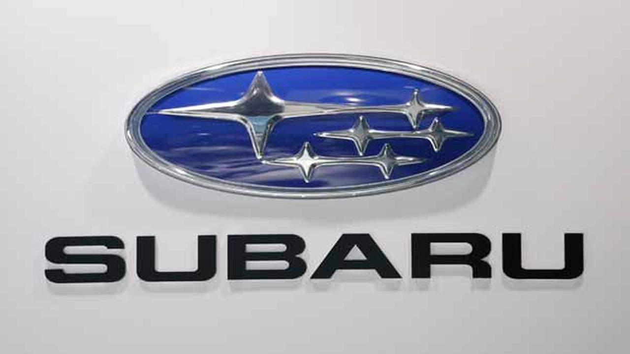 The Subaru logo is seen at the LA Auto Show in Los Angeles, Thursday, Nov. 29, 2012. (AP Photo/Jae C. Hong)
