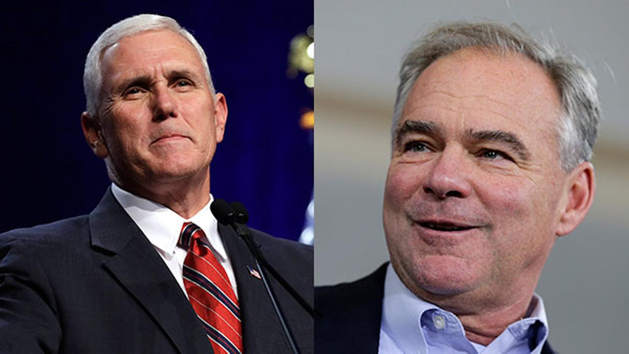 FILE - Republican vice presidential candidate Indiana Gov. Mike Pence / Democratic Vice Presidential candidate,  Sen. Tim Kaine, D-Va