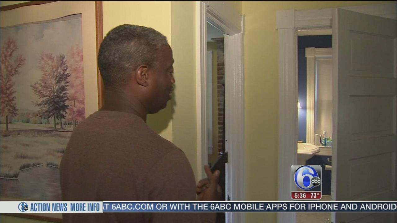 VIDEO: Trenton man comes home to find burglar in shower