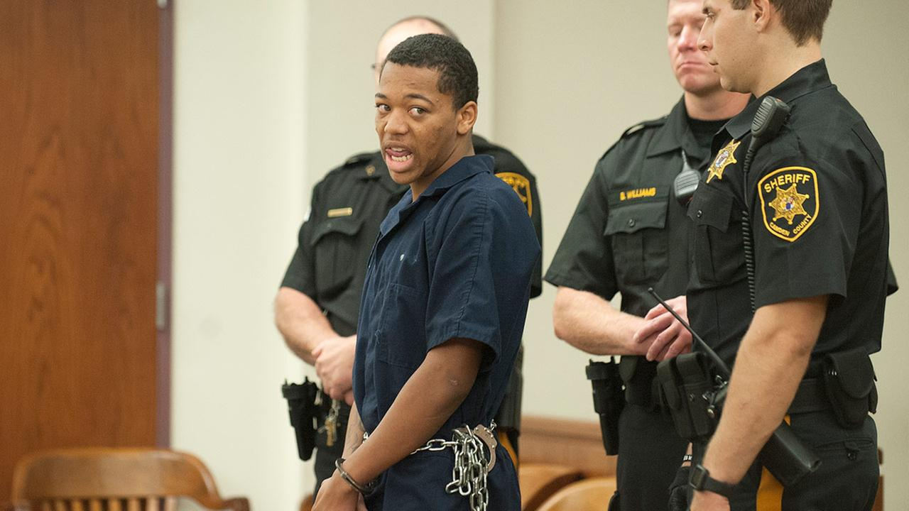 Pictured: Tyhan Brown appears in court.  (Courtesy: COURIER-POST)