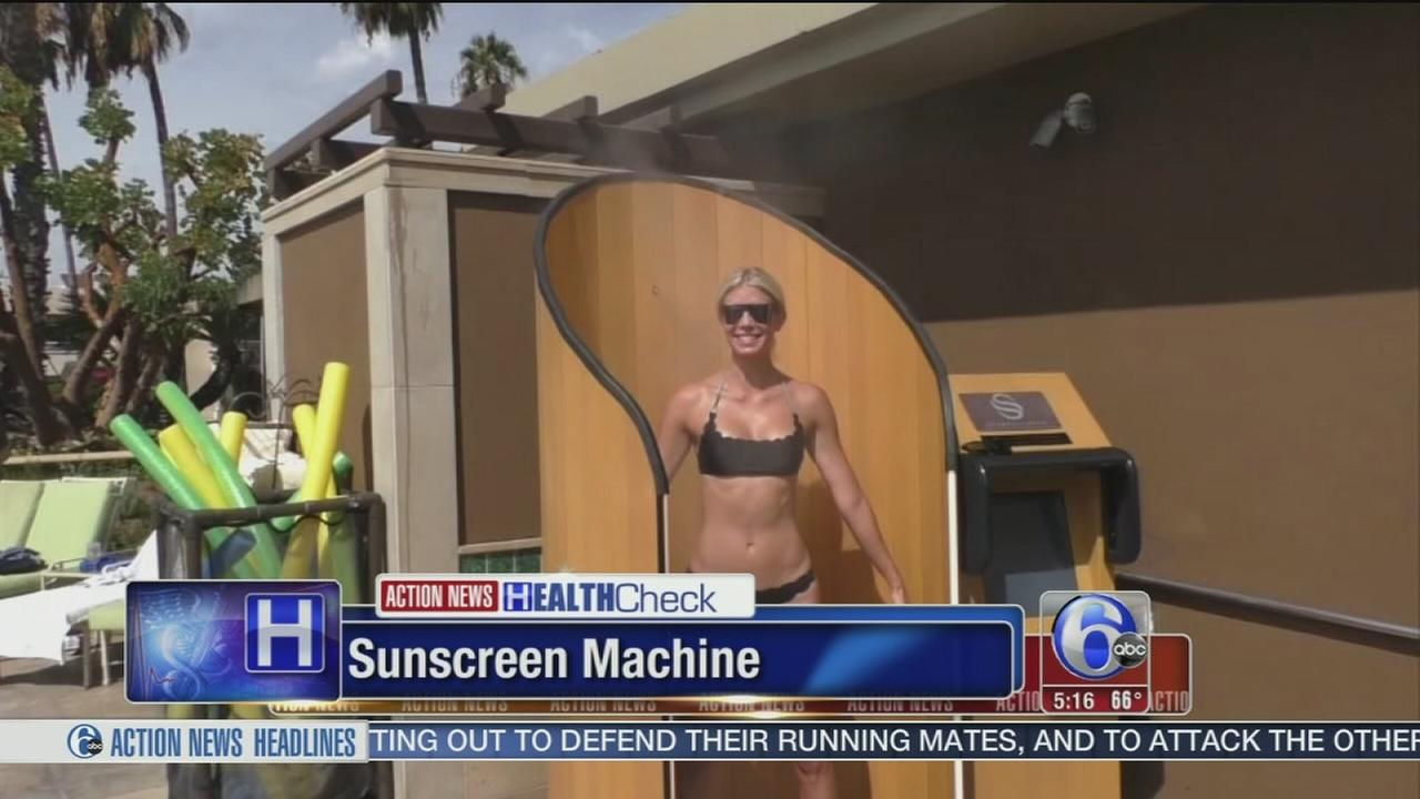 VIDEO: Machine applies sunscreen with push of a button