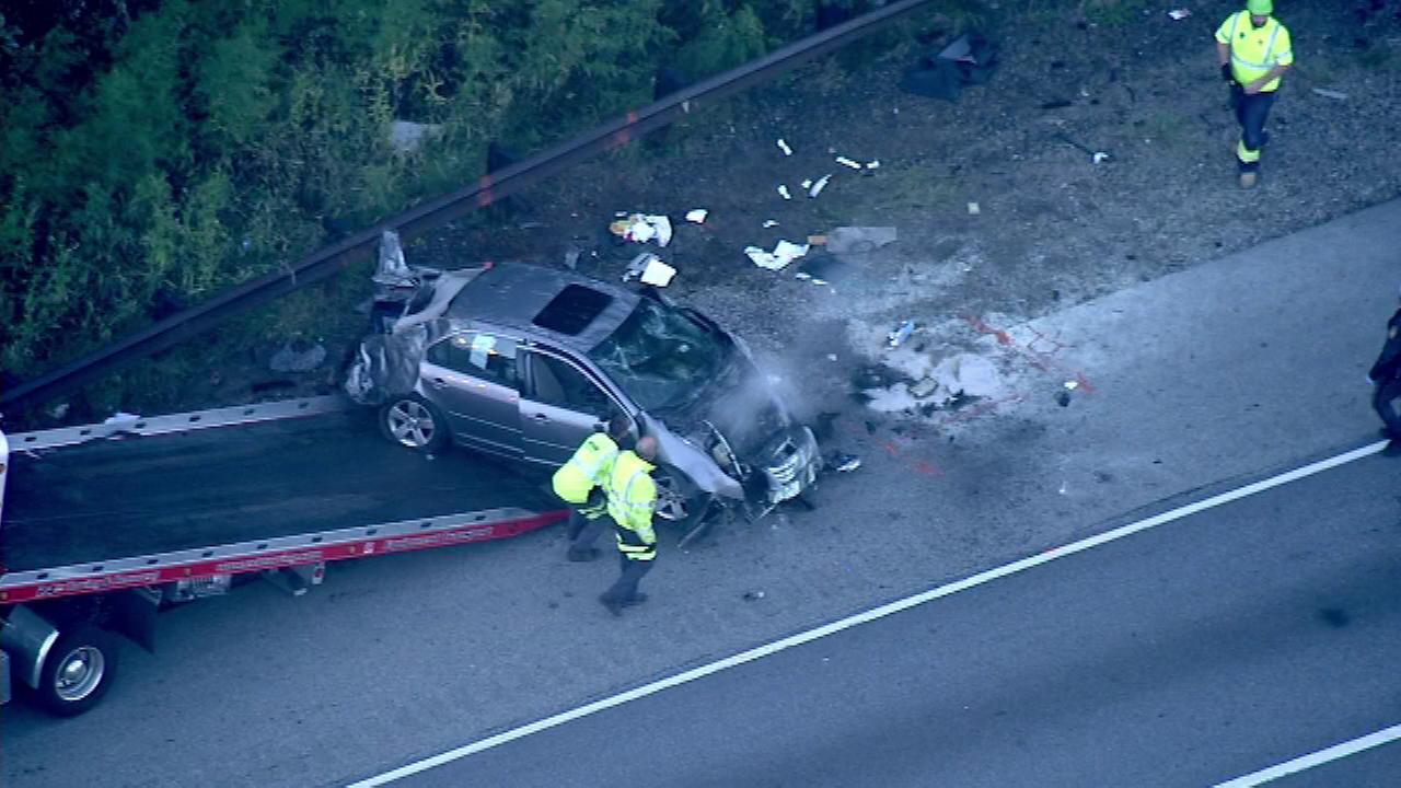 Chopper 6 was over the scene of a crash on I-476 on Wednesday morning.