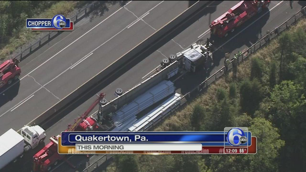VIDEO: Tractor-trailer crash on Pa. Tpk.
