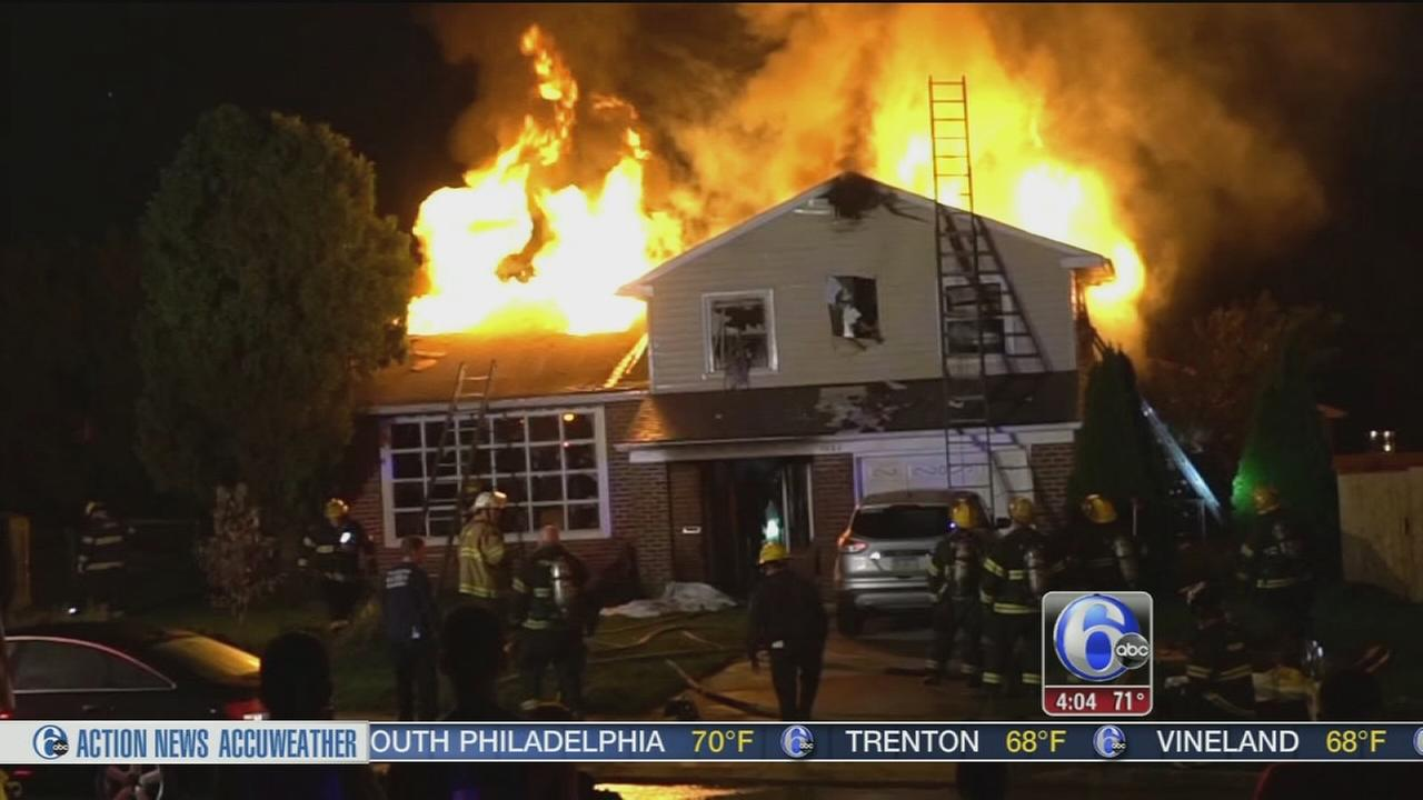 VIDEO: 2 dead, firefighter injured in Bustleton house fire