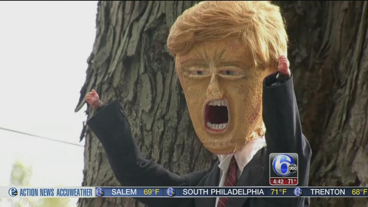 VIDEO: Professor creates election themed haunted house display