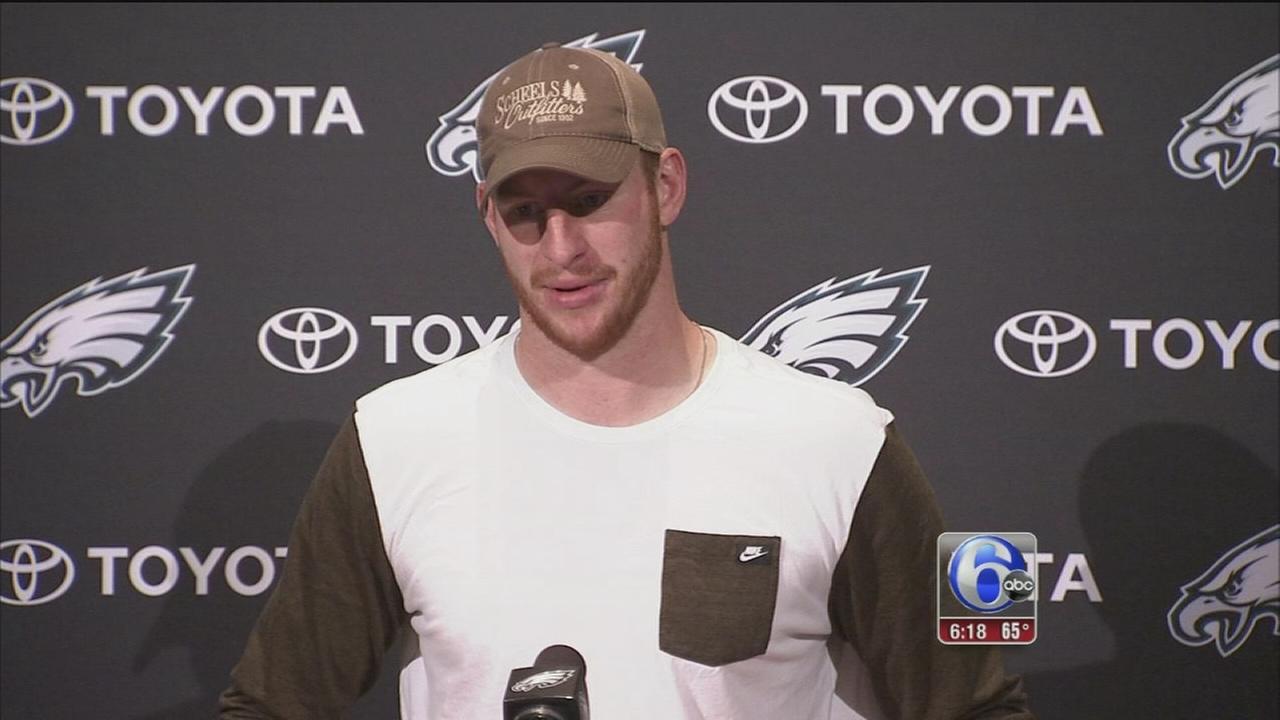 VIDEO: Wentz, Eagles focused on Lions