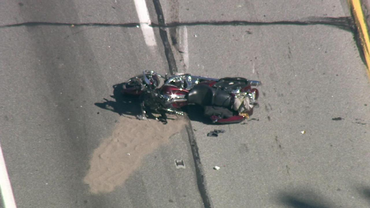 Chopper 6 was over a crash in the westbound lanes of the Pa. Turnpike in King of Prussia on Thursday, October 6.
