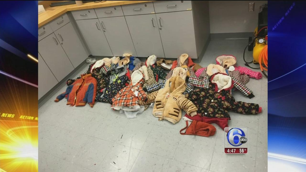 VIDEO: Cocaine sealed in childrens coats