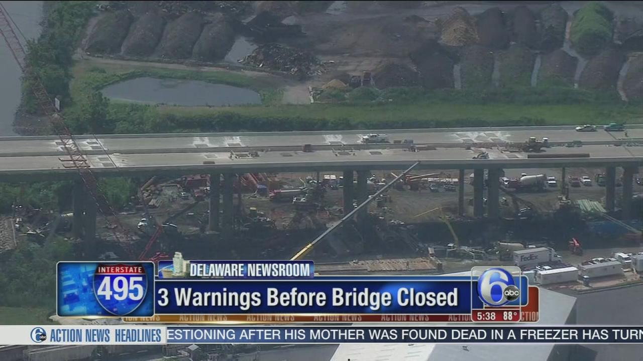VIDEO: Official: Del. should have closed bridge sooner