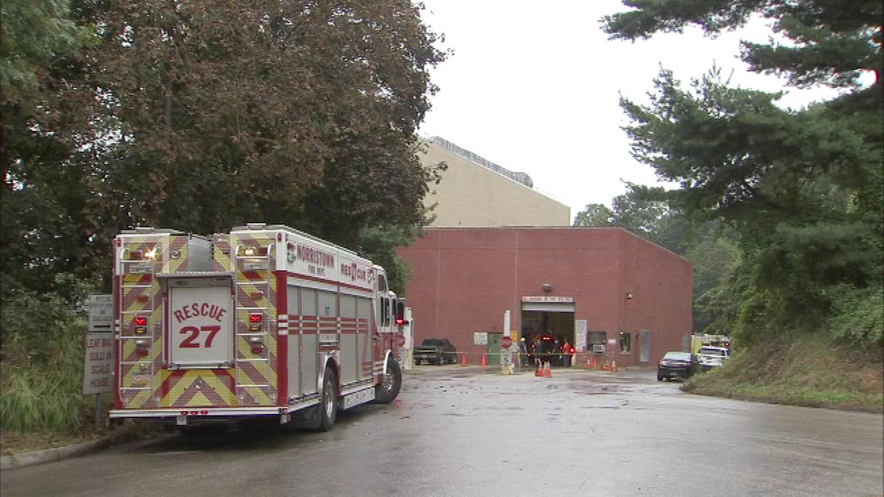 A 68-year-old man died after falling 45 feet down a trash pit in Lower Merion Township, Montgomery County.