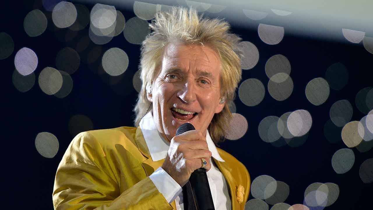 FILE - A Saturday, Nov. 28, 2015 photo from files of singer Rod Stewart performing in the Esprit Arena in Duesseldorf, western Germany.