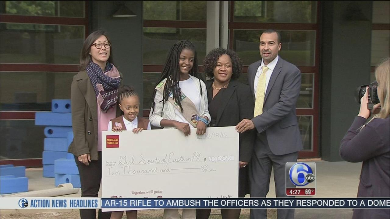 Wells Fargo donation to Girl Scouts