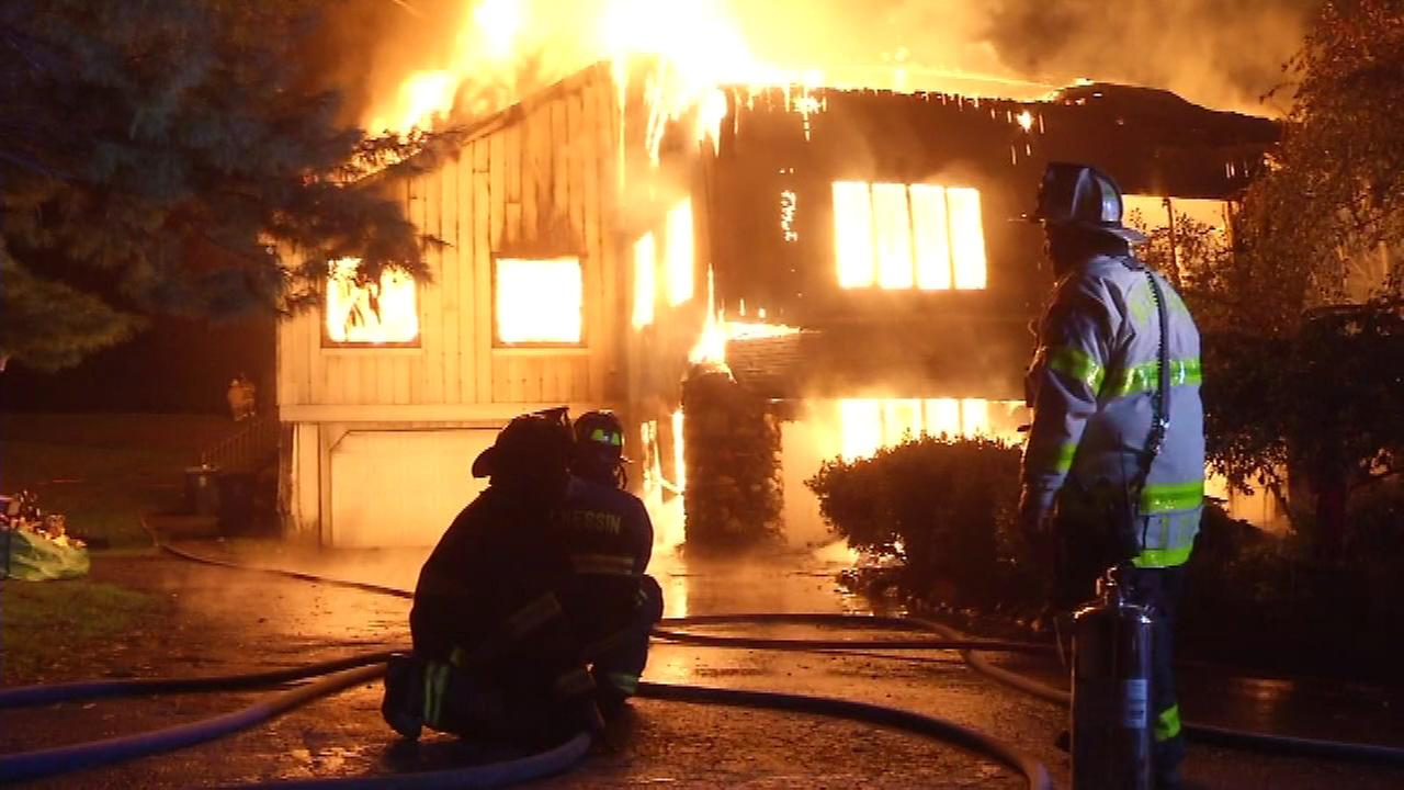 PICTURES: Massive house fire in Hockessin, Del.