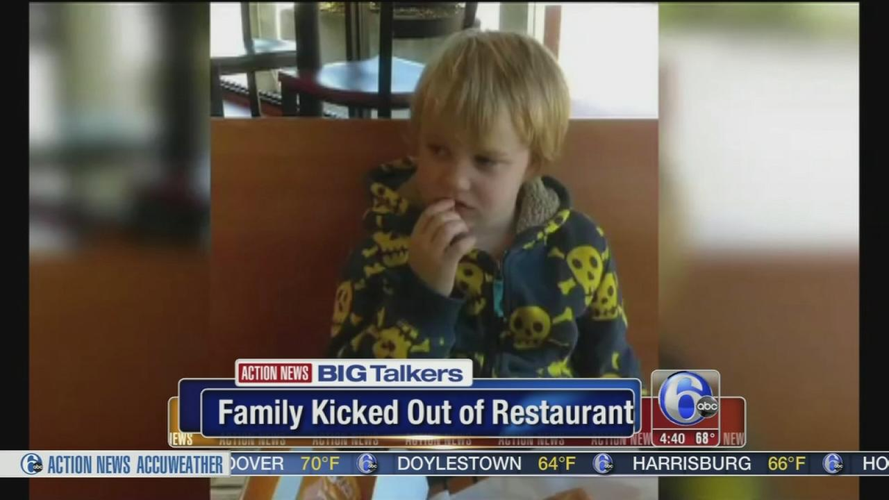 VIDEO: Family kicked out of Montco restaurant because of crying child