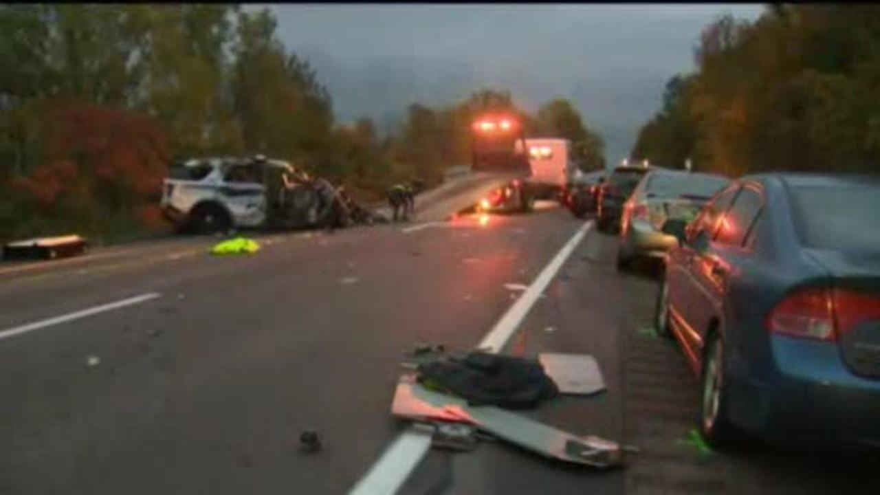 Pictured: The scene of the fatal crash in Vermont