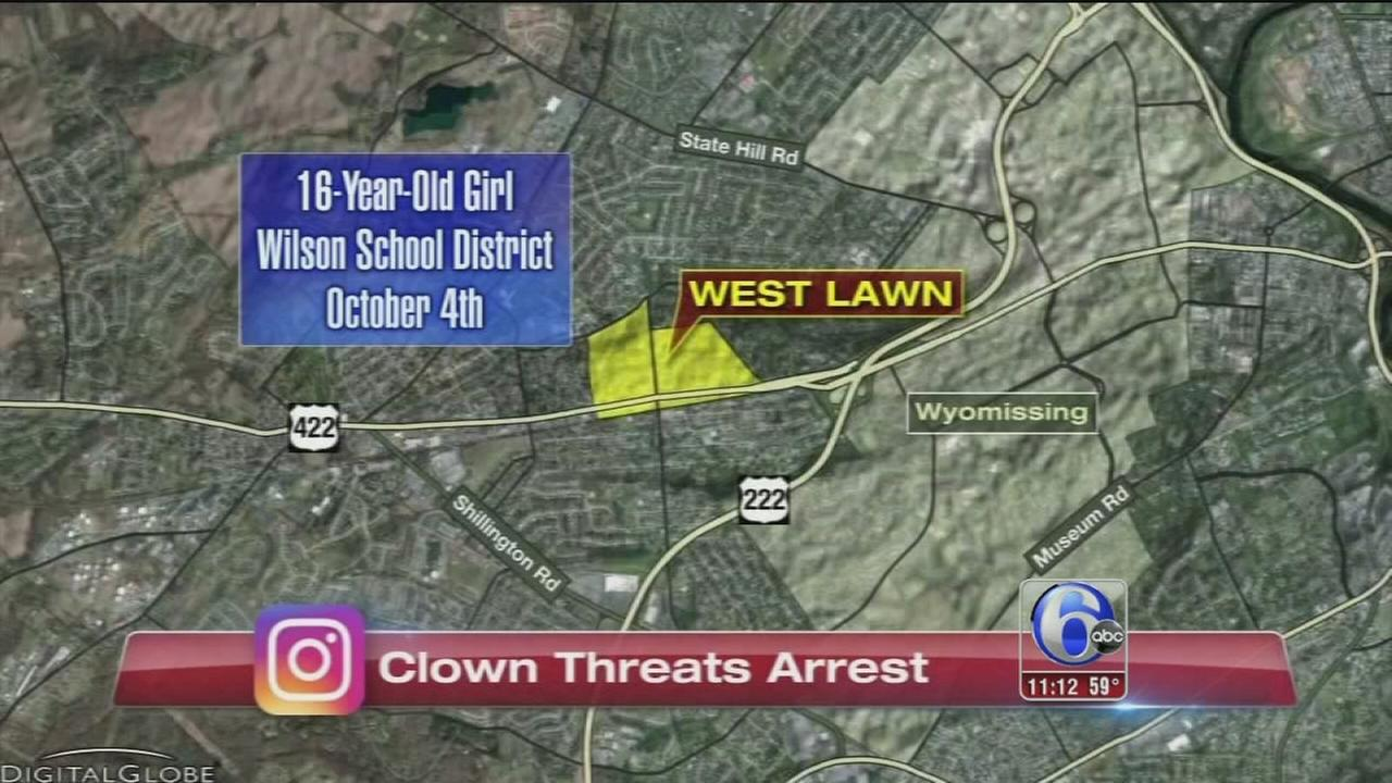 VIDEO: Officials: Pa. teen made clown threat to get out of class