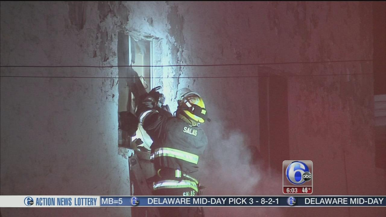VIDEO: Business goes up in flames in Olney