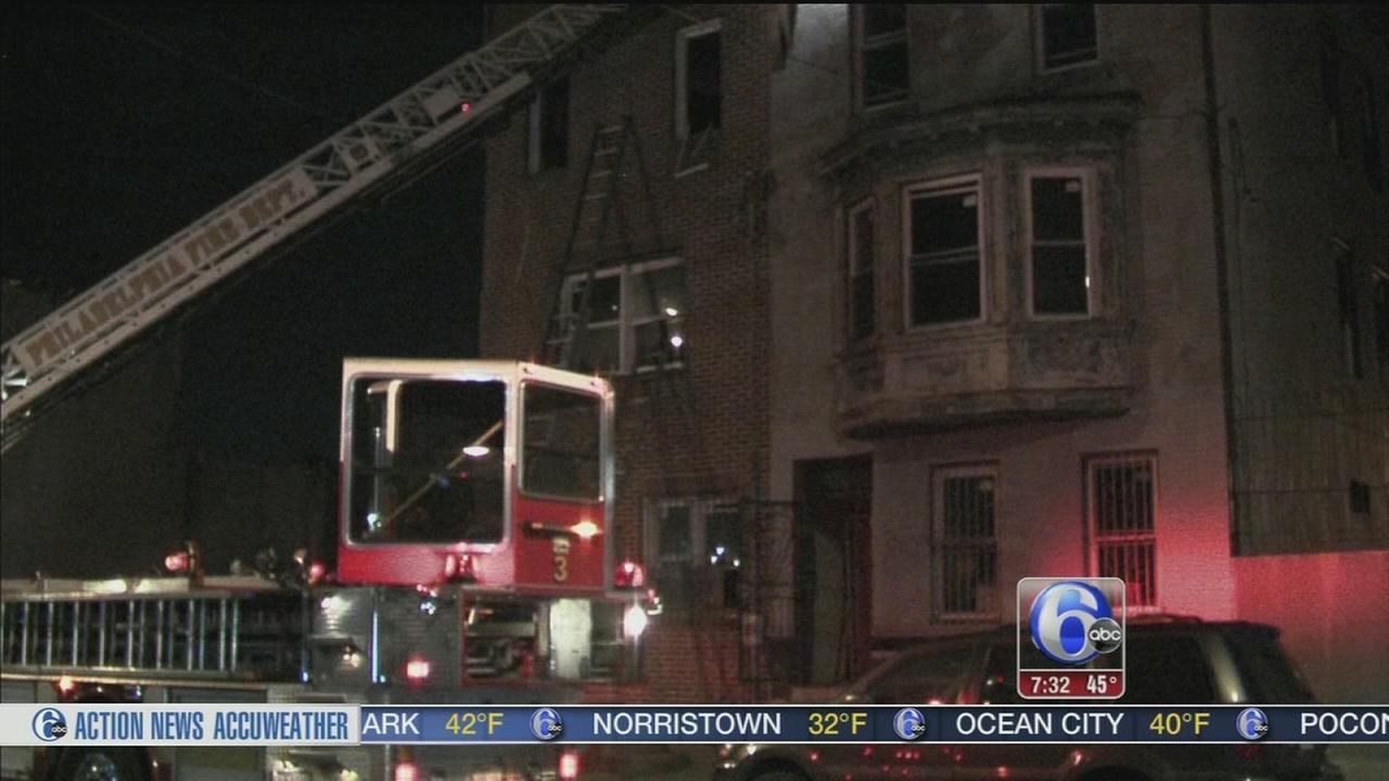 VIDEO: ?Suspicious? fire erupts in North Philadelphia