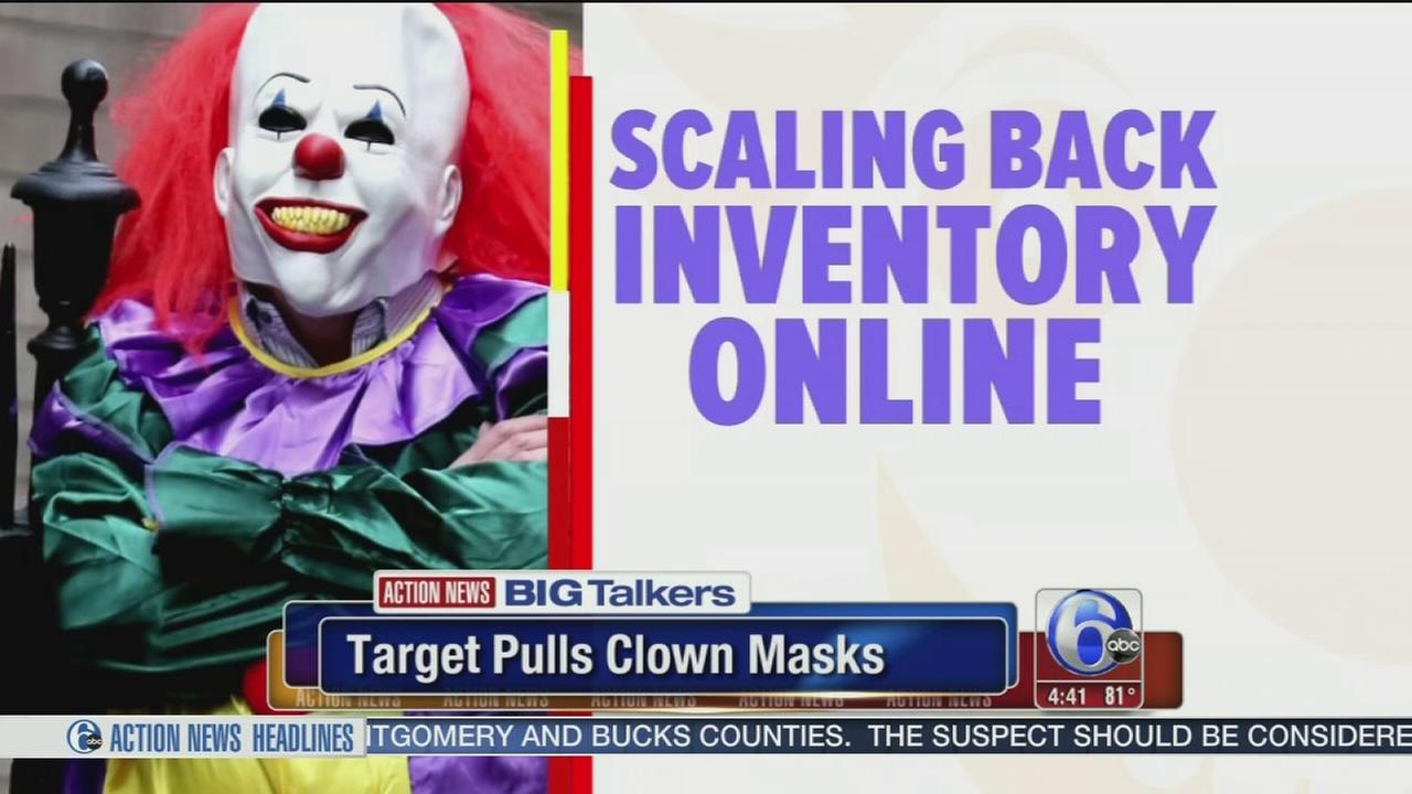 VIDEO: Target pulls clown masks from stores due to creepy clown sightings