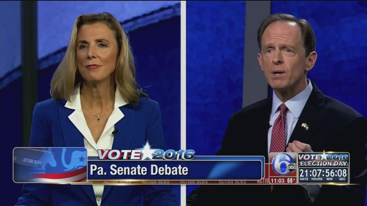 VIDEO: Pennsylvanias US Senate candidates spar over Trump, police