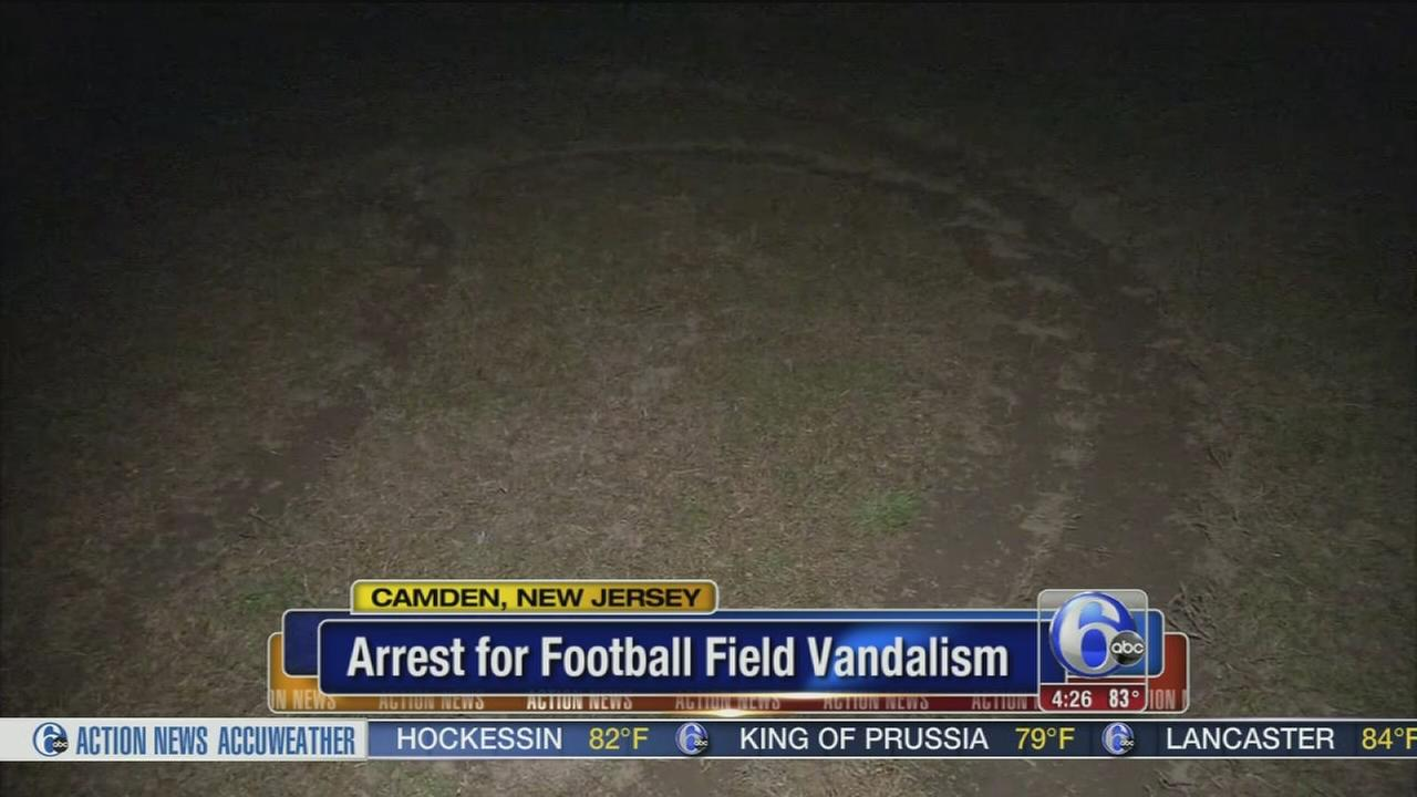 VIDEO: Man charged with vandalizing Camden football field