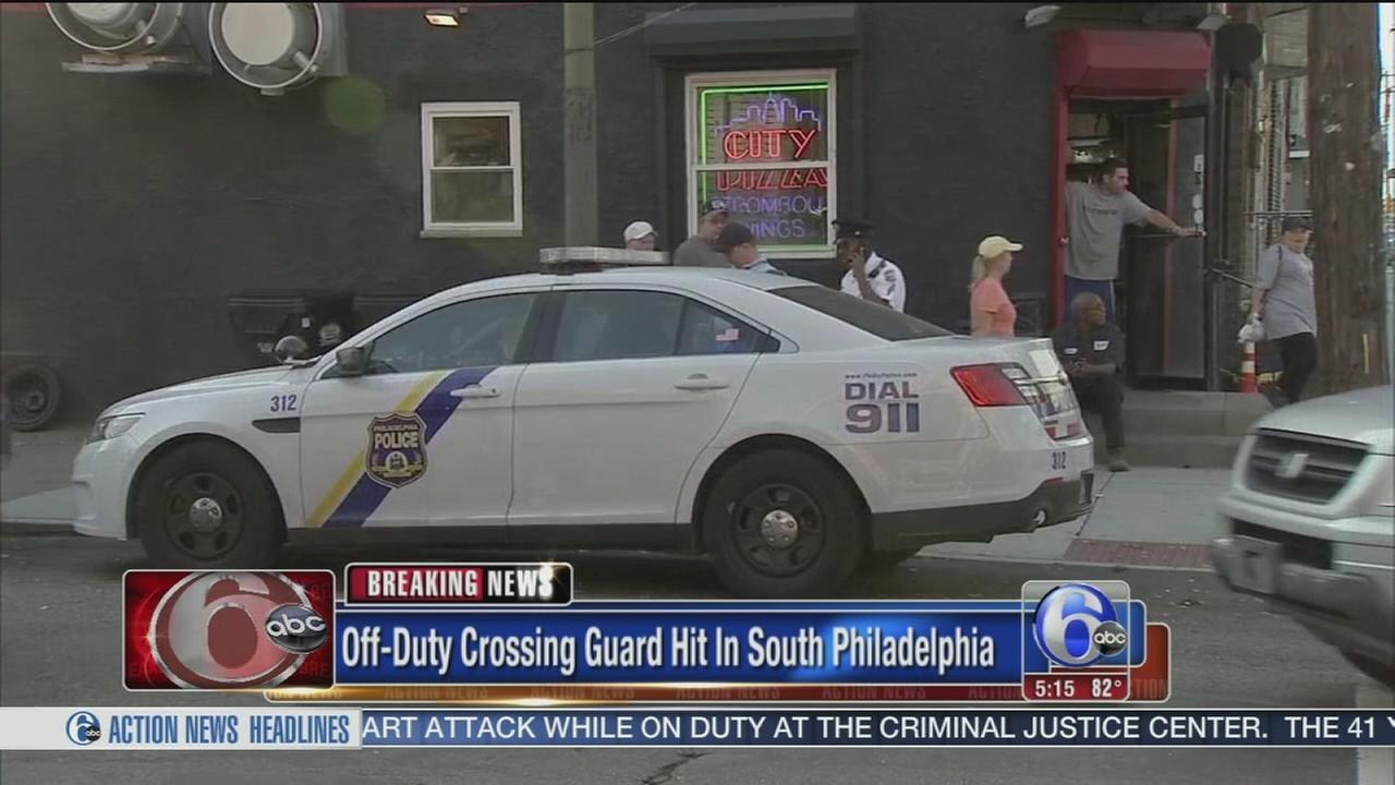 VIDEO: Crossing guard struck
