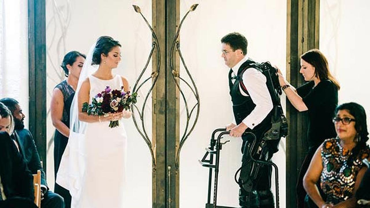 Scott Holland lives with MS, but that didnt stop him from walking his daughter, Elise, down the aisle on her wedding day.